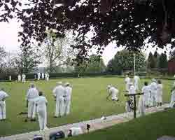 A game of bowls being played at Buxted
